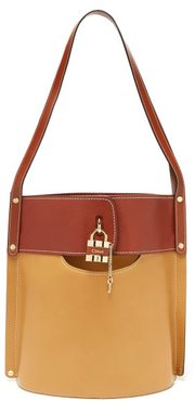 Aby Large Leather Bucket Bag - Womens - Brown