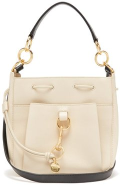 Tony Medium Leather Bucket Bag - Womens - Beige