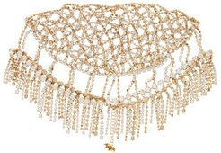 Divinità Crystal-embellished Headpiece - Womens - Gold