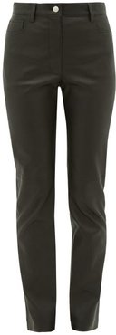 Cindy Leather Trousers - Womens - Black