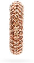 Fendioops Medium Crystal-pavé Ear Cuff - Womens - Rose Gold