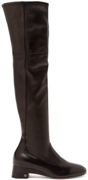 Claus Over-the-knee Leather Boots - Womens - Black