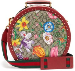 GG Flora Coated-canvas And Leather Vanity Case - Womens - Multi