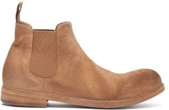 Zucca Suede Chelsea Boots - Mens - Brown