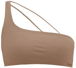 Apex One-shoulder Bikini Top - Womens - Beige