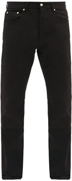 Straight-leg Cotton-denim Jeans - Mens - Black