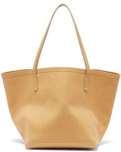 Park Canvas And Leather Tote Bag - Womens - Nude
