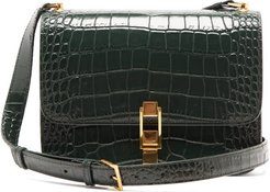 Carre Leather Cross-body Bag - Womens - Dark Green
