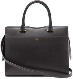Uptown Medium Grained-leather Tote - Womens - Black