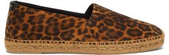 Leopard-print Suede Espadrilles - Mens - Black Brown