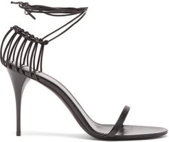 Lexi Wraparound Cage-heel Leather Sandals - Womens - Black
