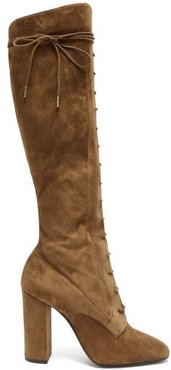 Laura Lace-up Knee-high Boots - Womens - Tan