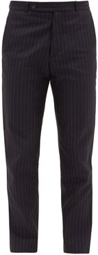Patrick Pinstriped-twill Trousers - Mens - Navy Multi