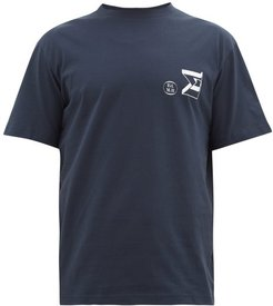 Sigma Logo-print Organic-cotton T-shirt - Mens - Navy
