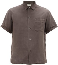 Willy Short-sleeved Tencel Shirt - Mens - Dark Grey