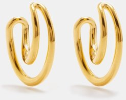 Initial Mini Gold-vermeil Hoop Earrings - Womens - Gold