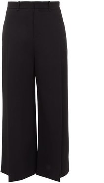 Liberty Pleated Wide-leg Trousers - Womens - Black