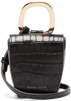 Pablo Crocodile-effect Leather Cross-body Bag - Womens - Black