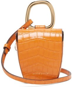 Pablo Crocodile-effect Leather Cross-body Bag - Womens - Orange