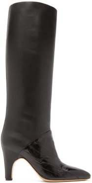 Rimbaud Patent And Smooth Leather Knee-high Boots - Womens - Black