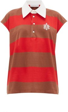 Sleeveless Striped-cotton Rugby Shirt - Womens - Red Multi
