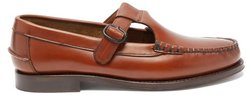 Alber T-bar Leather Loafers - Womens - Tan