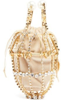 Ginestra Crystal-embellished Clutch - Womens - Gold