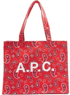 Diane Paisley-print Canvas Tote - Mens - Red