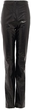 Leonna High-rise Leather Trousers - Womens - Black