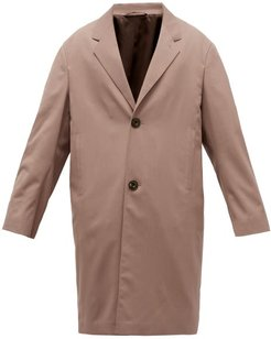 Chesterfield Single-breasted Twill Coat - Mens - Brown