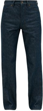 High-rise Single-pleat Denim Jeans - Mens - Blue Multi