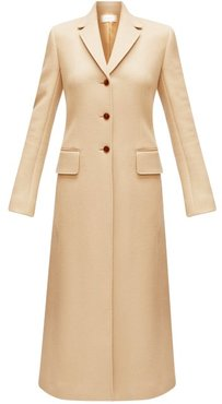 Sua Single-breasted Wool-blend Coat - Womens - Camel