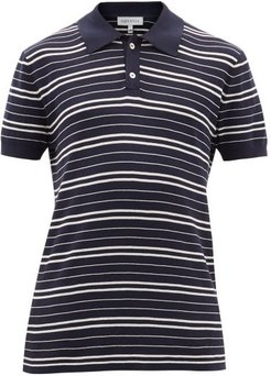 Tk Riker Striped Cotton-knit Polo Shirt - Mens - Navy White