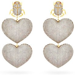 Scarab Mon Amour Gold-plated Clip Earrings - Womens - Silver
