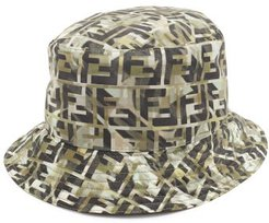 Ff-monogram Technical Bucket Hat - Mens - Multi