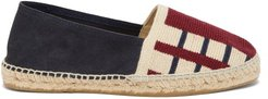 Striped Canvas And Suede Espadrilles - Mens - Multi