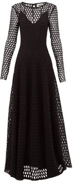 Open-knit Crochet-lace Gown - Womens - Black