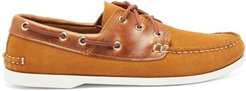 Classic Suede Boat Shoes - Mens - Brown