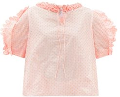 Fanny Polka-dot Fli-coupé Cotton-poplin Blouse - Womens - Pink