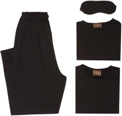 Merino-wool Jersey Travel Set - Womens - Black