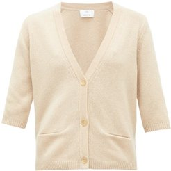 Button-front Cashmere Cardigan - Womens - Beige