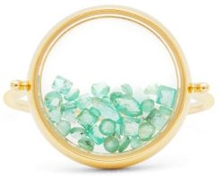 Chivor Emerald & 18kt Gold Ring - Womens - Yellow Gold