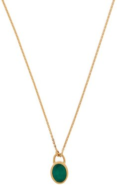 Emerald And 18kt Gold Necklace - Womens - Gold