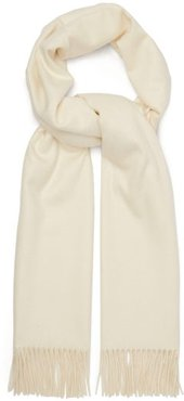 Fringed Cashmere Scarf - Womens - White