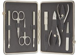 Inox Leather Manicure Set - Mens - Black Grey
