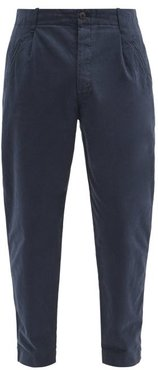 Assembly Cropped Cotton-twill Chino Trousers - Mens - Navy