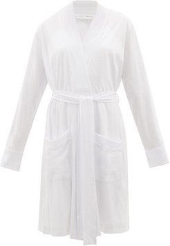 Mrs-embroidered Cotton Bridal Robe And Nightdress - Womens - Ivory