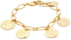 Coin-charm Anklet - Womens - Gold