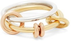 Acacia 18kt Gold And Sterling-silver Ring - Womens - Silver