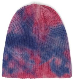 Hot-dye Cashmere Beanie Hat - Womens - Blue Multi
